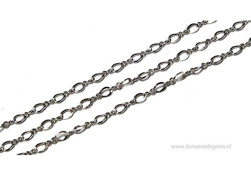 1cm sterling zilveren schakels / ketting 2mm