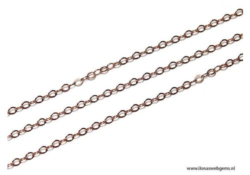 1 cm Rosé Goldfilled links / chain