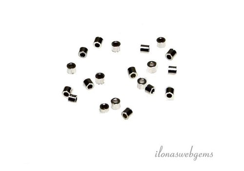 Approx. 100 pieces sterling silver crimp beads about 1x1mm