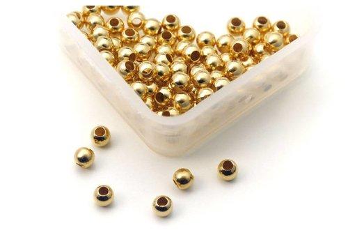 100 pieces Griffin Vermeil knijpbeads round Small