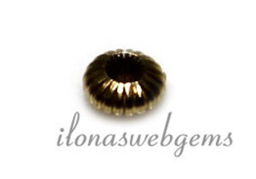14 carat gold spacer bead approx 3.5x1.5mm