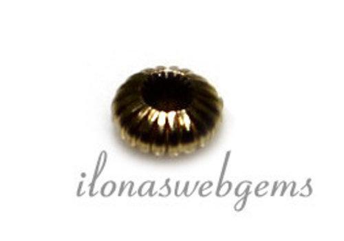 14 karaat goud spacer kraal ca. 3.5x1.5mm