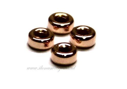 Rosé 14k / 20 Gold gefülltes Rondell ca. 3x1,5mm