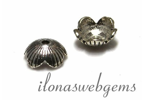 1 925/000 Silber   Perlenkap ca. 9x4mm