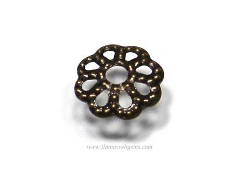 100 Stück bronzefarbene Perlenkappe