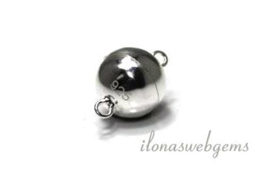 Sterling zilveren magneetslotje 8mm