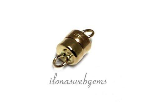 14 karaat gouden mini magneetslotje