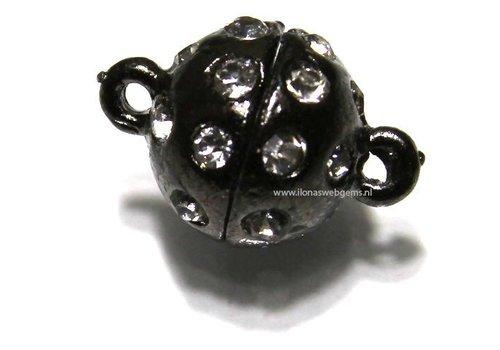 Magneetslotje oud zilverkleur ca. 12mm