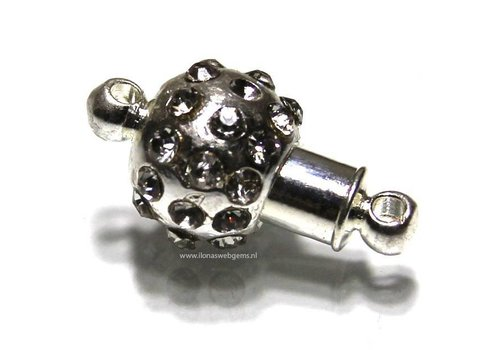 magnetclasp silvered app. 16x10mm