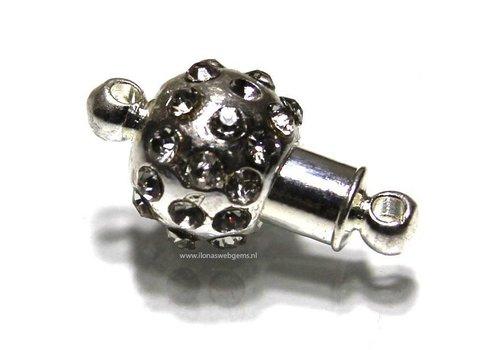 Magnetverschlusse versilberd ca. 16x10mm