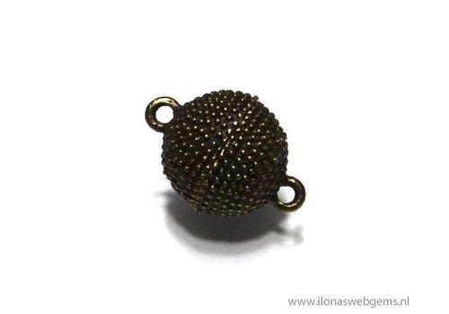Magneetslotje brons ca. 14mm