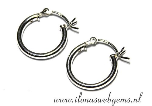 1 pair Sterling Silver creolen 16x15x2mm
