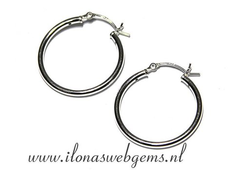 1 paar Sterling zilveren creolen 25mm