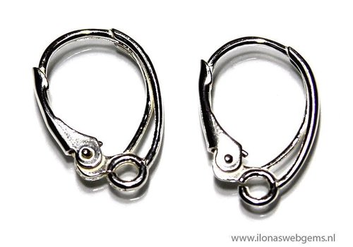 1 paar Sterling zilveren oorbelhaakjes