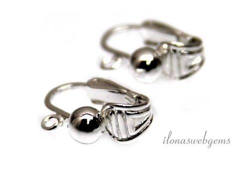1 paar sterling zilveren oorclips
