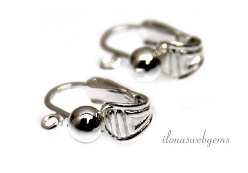 1 pair of sterling silver ear clips