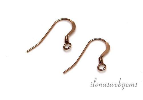 1 paar Rosé 14k/20 Gold filled oorbelhaakjes ca. 14mm