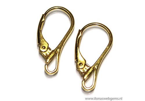 1 pair Vermeil Ear Hooks app. 19x9mm