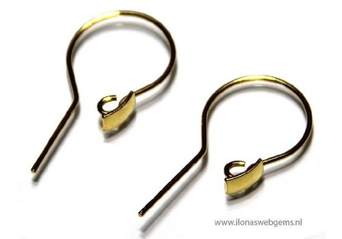 1 pair of Vermeil earring hooks approx. 25x12mm