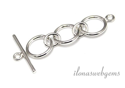Sterling silver toggle clasp approx. 37x10mm