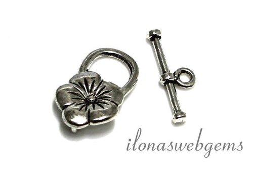10 Stück Zinn Spange Blume