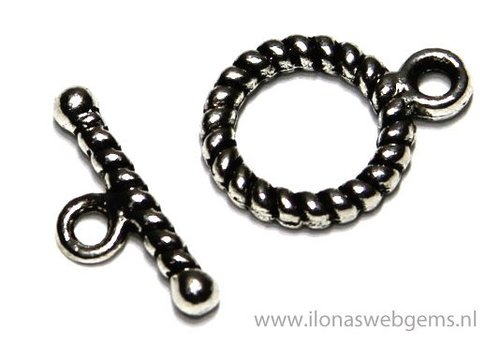 10 pieces tin clasps app. 10mm