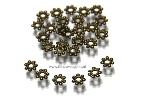 250 Daisy spacer piece bronze ca.4x1mm