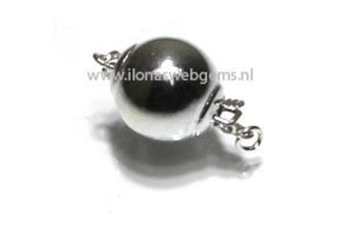 Sterling zilveren bakslotje bolletje 8mm