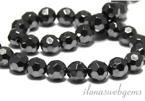 Hemattite Beads faceted round app. 11.5mm