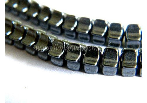 Hematite beads spacers app. 6x4mm