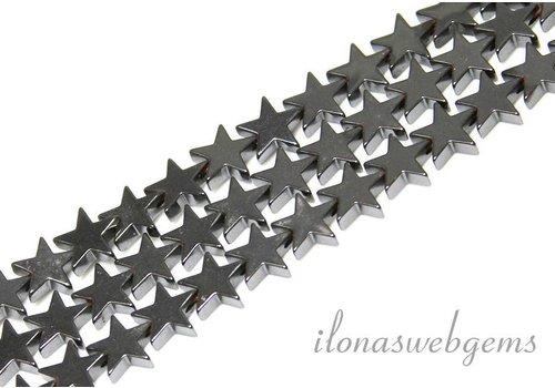 Hematiet kralen ster ca. 8mm