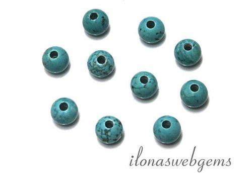 10 Stücke howlite Perlen mit Perlen mit großer Loch