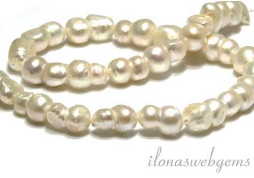 Freshwater pearls double app. 16x10mm