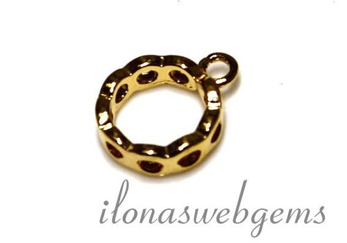 1 Vermeil spacer with ring app. 12.5x10x3mm
