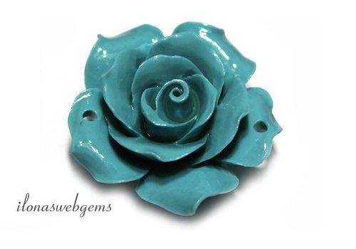 Koraal roos licht blauw groot (kraal)