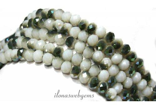 Swarovski crystal style beads around 6x4.5mm
