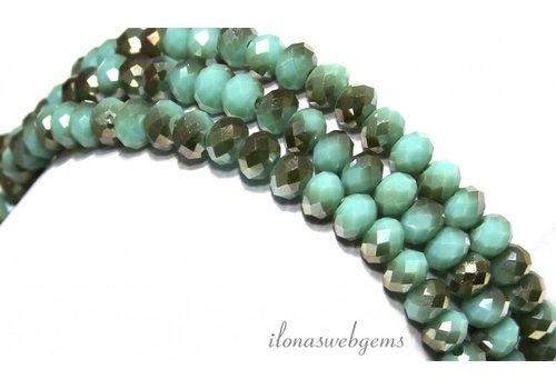 Swarovski crystal style beads around 6x4,5mm