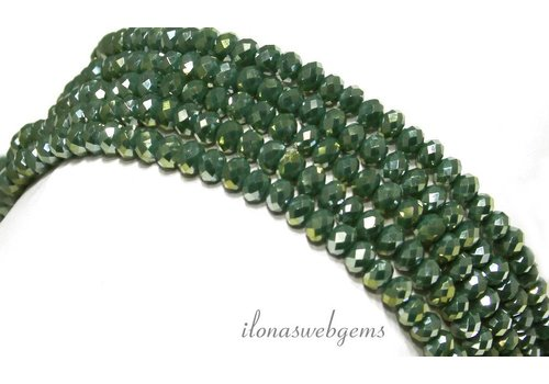 Swarovski style kristal kralen ca. 4,5x3,5mm