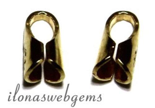 10 stuks Gold plated Eindkapjes voor leer 1.5mm