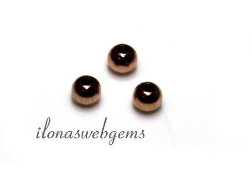14 carat Rose gold bead, approx. 2 mm light