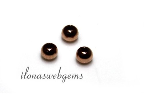 14 carat Rosé golden bead approx. 2mm light