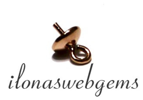 1 Rosé Vermeil pearl pendant / bead hanger 5mm