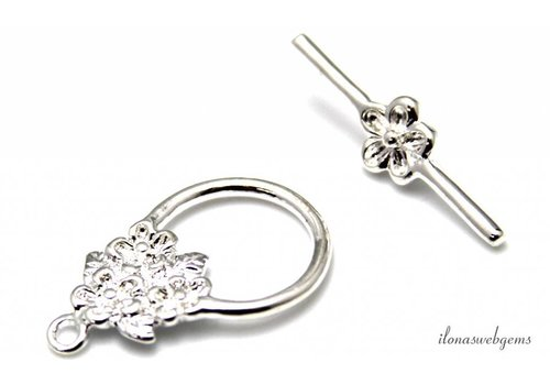 2 pieces toggle clasp silver plated approx.30x20mm