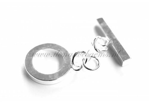 3 pieces toggle clasp silver plated