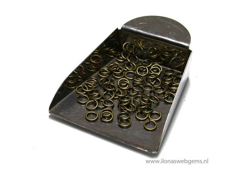 100 pieces of bronze open rings