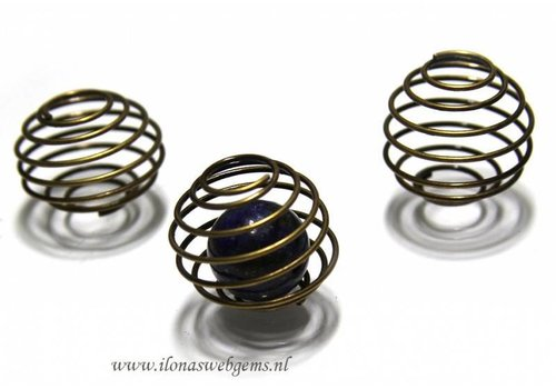 20 pieces Spiraal 'brass' app. 24x20mm