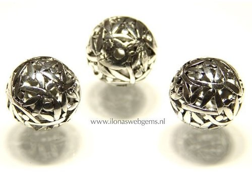 tin bead 6 pieces app. 24mm