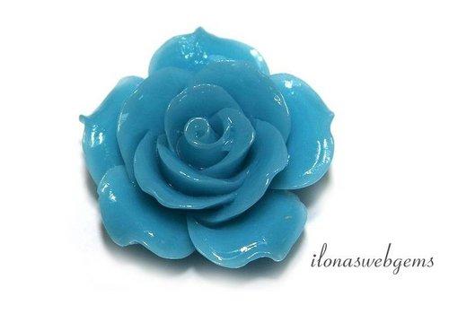 Koraal roos ca. 34x13mm (kraal)