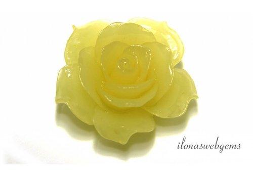 Koraal roos geel ca. 34x13mm (kraal)