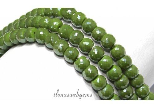 Swarovski style crystal beads app. 8x5mm